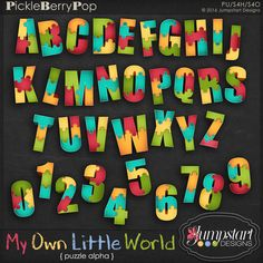 My Own Little World ~ Puzzle Alpha {by Jumpstart Designs}
