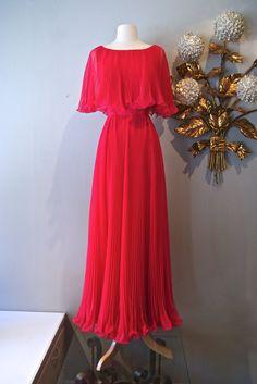 60s Dress / Vintage 1960s Miss Elliette Pleated by xtabayvintage, $198.00