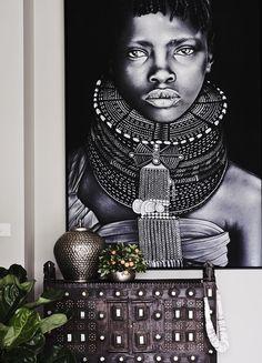 Cómo agregar un estilo étnico elegante a tu sala de estar # étnico African Interior Design, African Design, African Art, African Style, African Theme, Ethnic Design, Style Tribal, Tribal Art, Decoration Inspiration