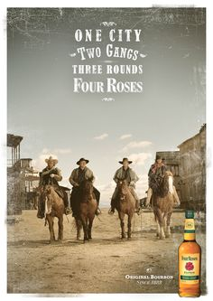 Master Distiller Jim Rutledge and his Four Roses Bourbon buddy riders