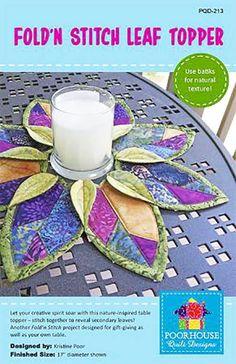 Table Topper Pattern - Fold'n Stitch Leaf Topper