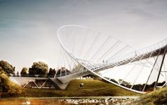 Konceptualni pešački most stavlja O u originalno - Građevinarstvo