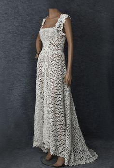 1910 Mixed Irish lace wedding dress