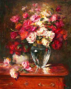 "Oil Paintings | ... Painting Artist: NORA KASTEN Artist Oil Painting ""The Glory of Roses"