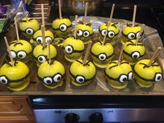 Minions chocolate covered apples