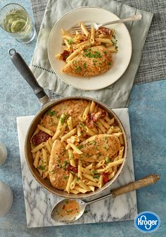 Once your family tastes the Italian-inspired flavors of this Baked Chicken recipe with Sun-Dried Tomato Cream Sauce and Penne pasta, it will easily become a staple on your dinner menu.