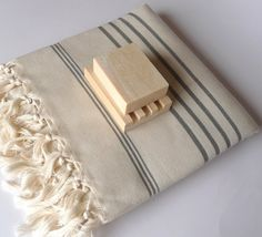 Turkish Bath Towel Peshtemal  Handwoven Natural by TheAnatolian, $28.00
