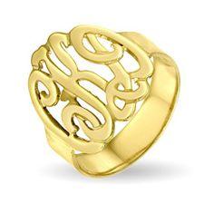 Gold Vermeil Custom Monogram Ring