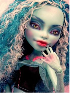 Honey Swamp Custom Repaint ~OOAK Monster High Doll Faceup Makeover Restyled Hair #Mattel FOR SALE NOW by Donna Anne M