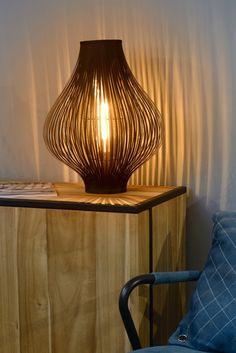 Lucide POLI - Tafellamp - Ø 36 cm - Zwart Pixel Art Templates, Wicker, Interior Decorating, Chandelier, Table Lamp, Led, Lighting, Mirrors, Home Decor