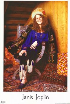 Janis Joplin. that outfit is perfect.
