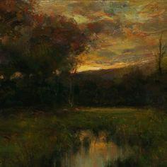 Dennis Sheehan- Glow Over The Ridge, Oil, 9 x 14, SOLD