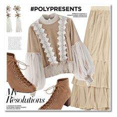 """#PolyPresents: New Year's Resolutions"" by paculi ❤ liked on Polyvore featuring Chicwish, contestentry and polyPresents"