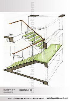 Home Stairs Design, Railing Design, Interior Stairs, Home Design Plans, House Design, Architecture Concept Drawings, Stairs Architecture, Architecture Details, Escalier Art