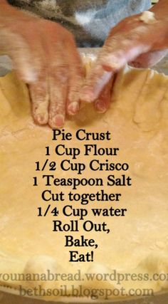 Perfect Pie Crust ~ The best pie crust recipe that exists... Once you make a homemade pie crust you will never again buy one