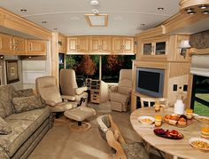 inside the RV is lovely