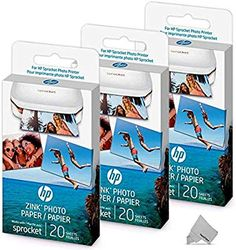 hp sprocket plus photo paper 20 pack 2ly73a in 2018 hp sprocket