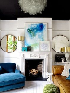 8 bold ceilings you can totally diy   domino.com