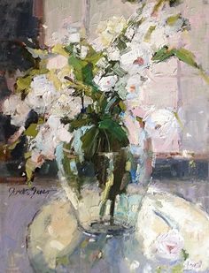 Ashes of Roses by Janette Jones Oil ~ 16 x 12