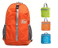 8c56fac941 Ulite Most Durable Packable Lightweight Travel Hiking Backpack Daypack  Women Men 20L Orange   To view