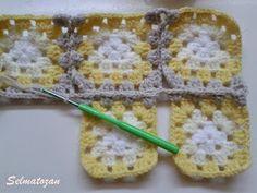 ELİMDEN GELENLER: İplik Koparmadan Motif Birleştirme Crochet Coat, Pot Holders, Elsa, Blanket, Pattern, Crocheted Afghans, Crocheting, Hot Pads, Potholders