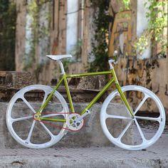 "BRN Fixed Bike - Green ""Cromovelata"" www.bernardisrl.net"
