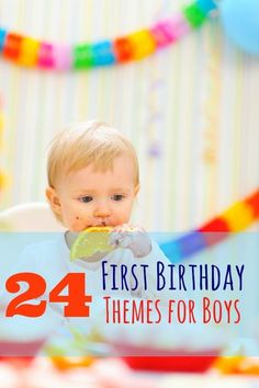 Looking for first birthday party ideas for your little boy? Here are 24 of my own favorite party themes for boys' first birthdays.