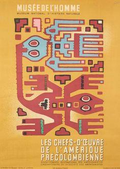 ¤ FALCK  Musée de l'Homme les chefs-d'oeuvre de l'Amérique Précolombienne. 1947 Imp. BEDOS & Cie, Paris