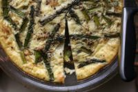 Vegan Crustless Quiche--Asparagus