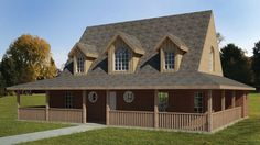 Home Plan HOMEPW77313 - 1846 Square Foot, 3 Bedroom 2 Bathroom + Farmhouse Home with 0 Garage Bays | Homeplans.com