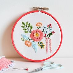 Embroidered Bouquet Pattern & Tutorial | Down Grapevine Lane