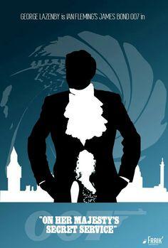 James Bond -- On Her Majesty's Secret Service - Special Edition James Bond Books, James Bond Movie Posters, James Bond Movies, Cinema Posters, Film Posters, Roger Moore, Sean Connery, Service Secret, George Lazenby