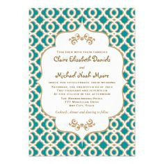 Teal and Gold Wedding Colors. Classy and vibrant.