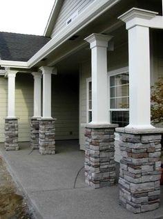 Square Fibergl Porch Columns Curb Eal Products