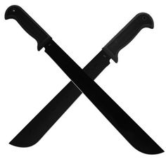 """Whetstone Cutlery Mucho Machete (Pack of 2) by Whetstone Cutlery. $19.99. Whetstone Cutlery Mucho Machete set of the Double Duece 22"""" Machete and the Eighteener 18"""" heavy duty machete.  With a 2 different sized Machetes these will cover all your survival basics.  At 22"""" Overall, the Double Deuce is a heavy duty machete that is made for all the tough jobs and adventures. From the Backyard to the Wilderness and to the Jungle you'll never have trouble getting through the brus..."""