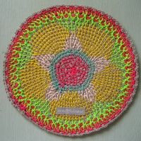 Crochet Mandala Wheel made by  Sandra, Netherlands for yarndale.co.uk
