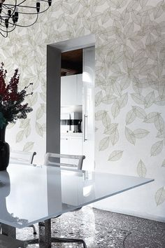 Artistic wallpaper with floral pattern BOUDOIR II Collection 2014 Collection By Inkiostro Bianco design Aura Zecchini Decor, Lighted Bathroom Mirror, Floral Pattern Wallpaper, Wall Decor, Interior, Tree Gift, Wall Coverings, Interior Walls, Home Decor
