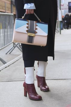 Pin for Later: Bag and Shoe Inspiration Ahead! See the Best NYFW Street Style Accessories Day 1