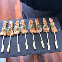 Teriyaki salmon pops. #canapes #cocktailparty #glutenfree #celebrations #figmintcatering #entertainingwithfigmint #sydneycaterer