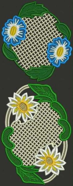 Advanced Embroidery Designs - Daisy Doily Set