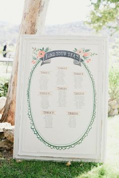 Seating charts - Find your Seat | Top 10 Unique Wedding Styling Ideas