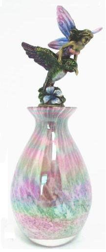 Fairy on Hummingbird Perfume Bottle