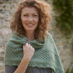Drift Raglan Increase Shawl knitting pattern