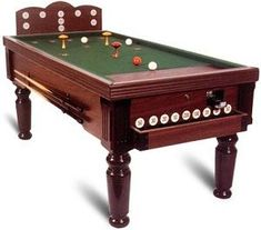 An English Gentleman Named David Gill First Saw Bar Billiard Rules Played In Belgium Thereafter He Intr Bar Billiards Table Billiard Table Billiards