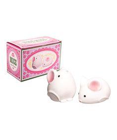 Look at this #zulilyfind! Mice Salt & Pepper Shakers by Streamline #zulilyfinds  OMG i love these!!!