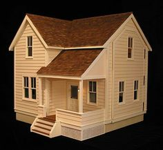 Instant Access To Woodworking Designs, DIY Patterns & Crafts Woodworking Projects That Sell, Woodworking Plans, Popsicle Stick Crafts House, Minimal House Design, Casas The Sims 4, House Template, Doll House Plans, Model House Plan, Wooden Dollhouse