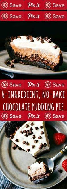 The Easiest Triple-Layer Pudding Pie (Video) 3 hrs to make serves 1 A six-ingredient easiest triple-layer chocolate pudding pie. A dessert dressed to impress with minimal effort. Hey everyone! How was your Ingredients Vegetarian Baking & Spices 2 packages (3.9 ounces each) instant chocolate pudding mix instant 1 container Topping frozen whipped cup White sugar Snacks 25 Oreos or chocolate sandwich cookies Dairy 6 tbsp Butter unsalted 2 cups Whole milk #sweets