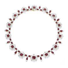 Very Fine Ruby and Diamond Necklace, <em></em>   Lot   Sotheby's