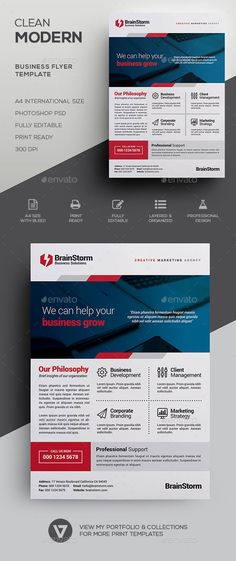 Clean Corporate Flyer \/ Magazine Ads Magazine ads, Magazines and - corporate flyer template