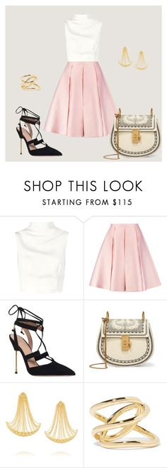 """541"" by mel-ylm ❤ liked on Polyvore featuring Keepsake the Label, Emilia Wickstead, Kurt Geiger, Chloé, Arme De L'Amour and Jennifer Fisher"